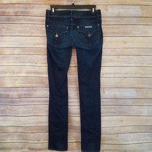 Hudson Jeans Collin Flap Skinny Dark Wash Low Rise